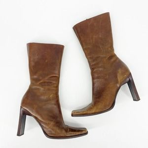 STEVE MADDEN 'Jeannie' Heeled Boots Brown 8.5